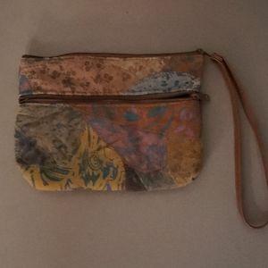 Vintage James Alex Genuine Leather Patchwork Wrist
